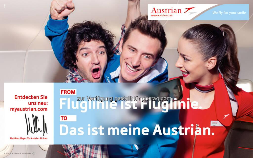 Matthias Mayer neues Austrian Airlines Werbegesicht (07.05.2014)