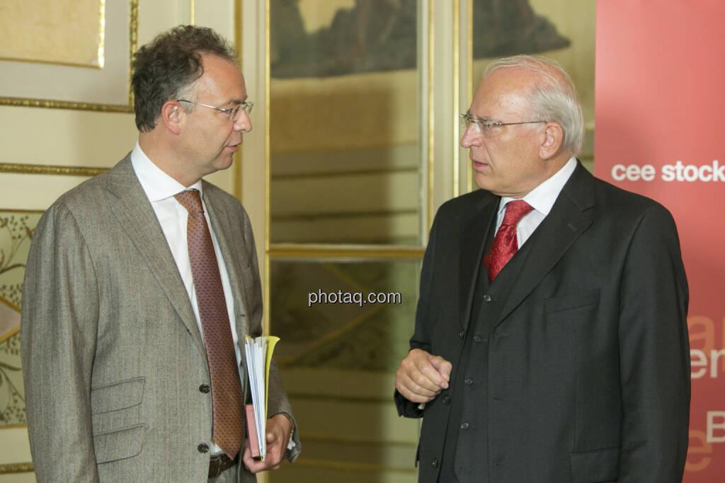 Heimo Scheuch (Wienerberger), Claus Raidl (ÖNB), © Martina Draper (15.12.2012)