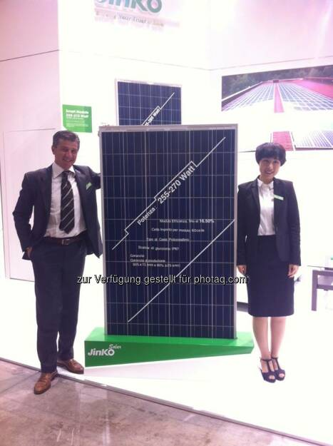 Jinko: We are looking forward to meeting you at booth E10 at Solar Expo in Milan.  Source: http://facebook.com/439664686151652 (08.05.2014)
