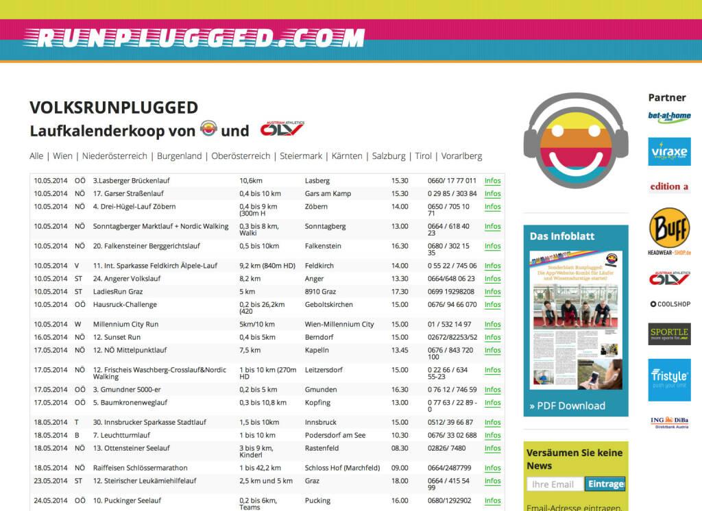 Volksrunplugged für viele weitere Testmaps: Der Volksrun-Kalender http://runplugged.com/volksrunplugged , zunächst für Österreich, in Kürze hoffentlich auch für Deutschland und die Schweiz (09.05.2014)