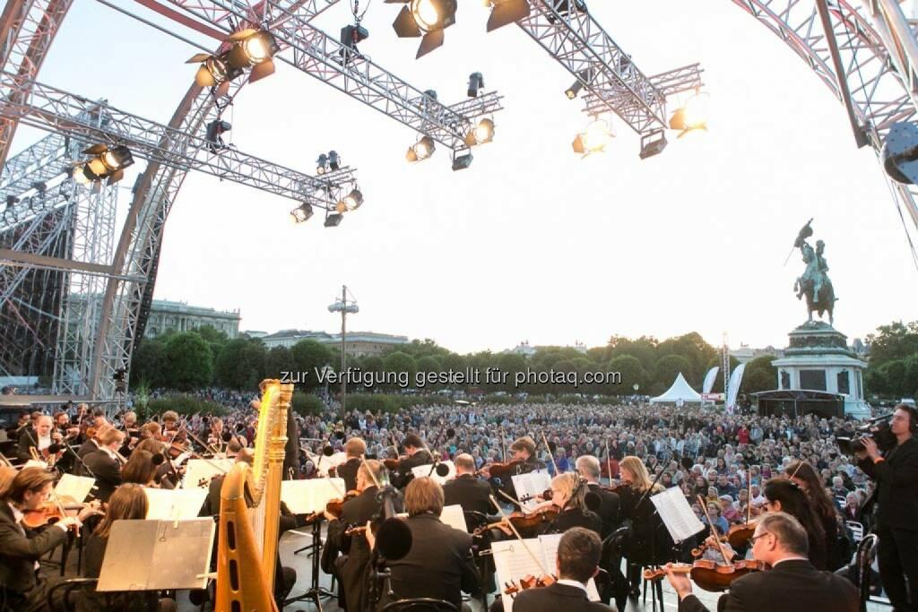 Blick von der Bühne, Fest der Freude 2014, © Martina Draper für Wiener Symphoniker (09.05.2014)