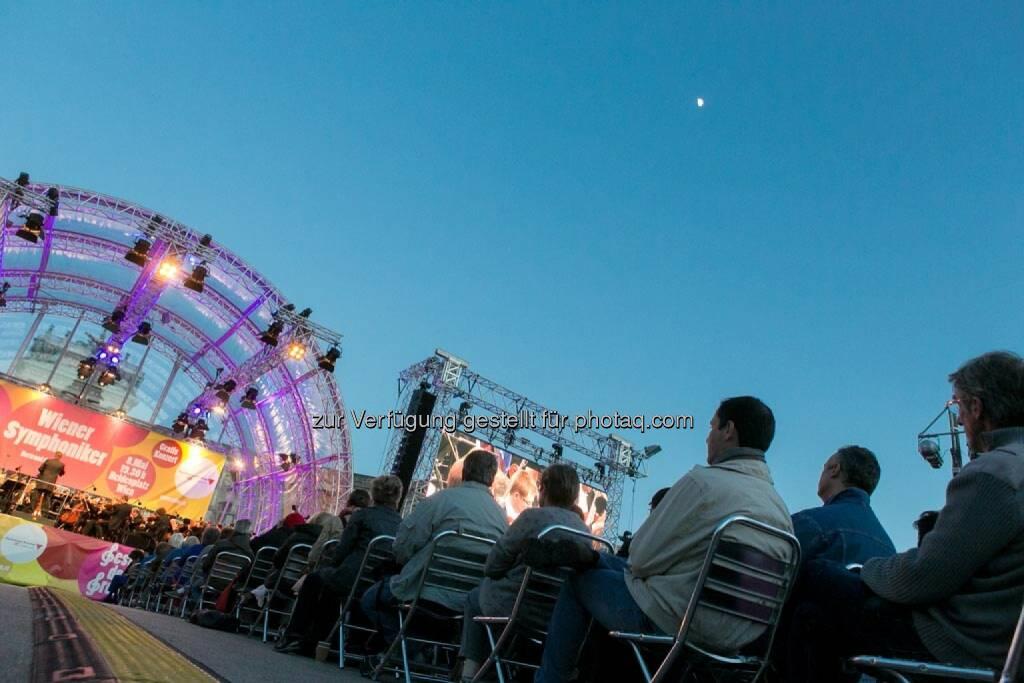 Mond, Bick auf die Bühne, Fest der Freude 2014, © Martina Draper für Wiener Symphoniker (09.05.2014)