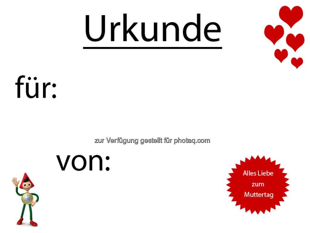 Erste Bank - Muttertag vergessen? Unser Tipp – eine Last-Minute Urkunde:  Source: http://facebook.com/erstebank (11.05.2014)