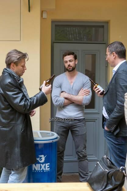 Robert Gillinger (Börse Express), Artur Zolkiewicz (Nixe), Wolfgang Siegl-Cachedenier (startupps.net), © finanzmarktfoto.at/Martina Draper (15.05.2014)
