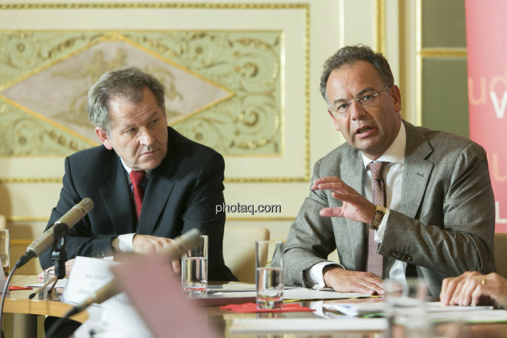 Eduard Zehetner (Immofinanz), Heimo Scheuch (Wienerberger), © Martina Draper (15.12.2012)