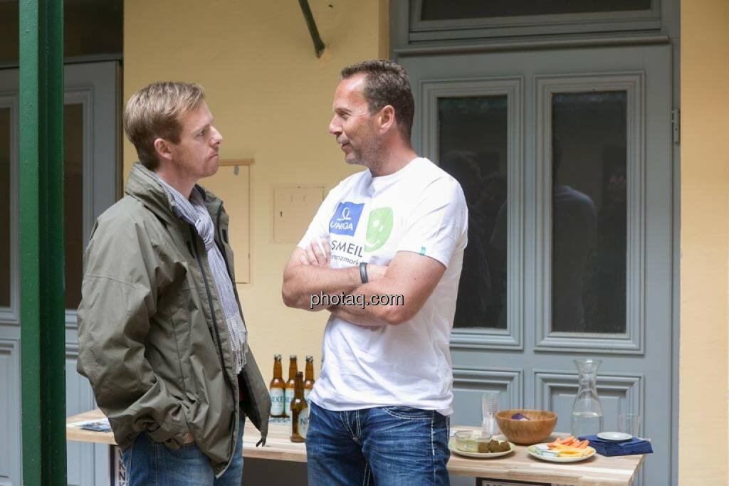 Christian-Hendrik Knappe (Deutsche Bank), Oliver Olbrich (Olbrich Media und Immobilien), © finanzmarktfoto.at/Martina Draper (15.05.2014)