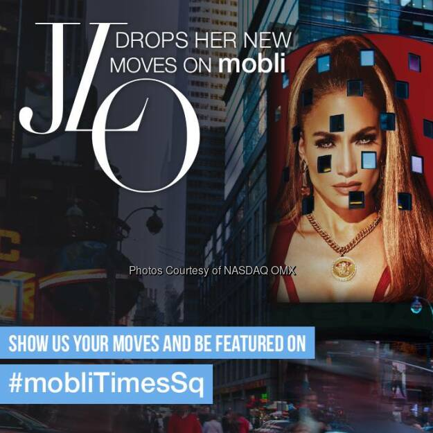 Jennifer Lopez Nasdaq: Dance your way to Times Sq. on mobli with Jennifer Lopez #MobliTimesSq goo.gl/uffg96 @mobli  Source: http://facebook.com/NASDAQ (21.05.2014)