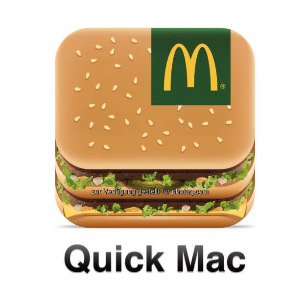 McDonald's Österreich launcht mobile Bestell-App -Mit der kostenlosen App Quick Mac ist erstmals mobiles Bestellen und Bezahlen möglich. Gäste können ihre Bestellung via Smartphone von unterwegs aufgebenund kurze Zeit darauf die frisch zubereiteten Produkte im ausgewählten Restaurant abholen oder vor Ort genießen. (Bild: McDonald's) (21.05.2014)