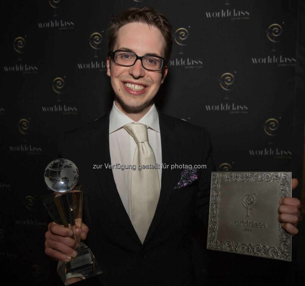 Reinhard Pohorec wurde zum bester Bartender Österreichs gewählt, er ist Gewinner der World Class Competition 2014 Austria (Bild: Nils Krueger/Diageo Deutschland GmbH), © Aussendung (21.05.2014)