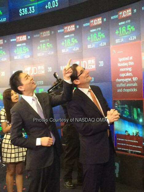 Aufwärts $JD JD.com is now trading on NASDAQ! congratulations on your IPO   Source: http://facebook.com/NASDAQ (22.05.2014)