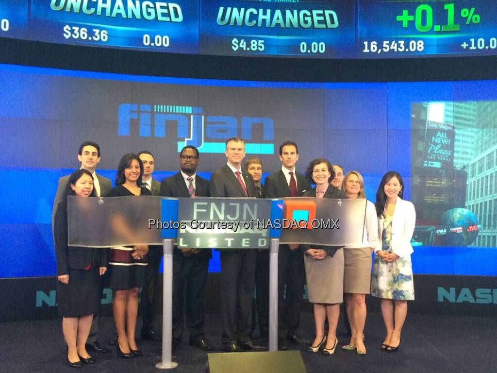 $FNJN: Finjan Holdings rings the NASDAQ Opening Bell Source: http://facebook.com/NASDAQ (23.05.2014)
