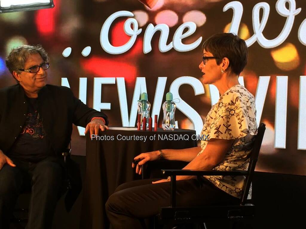 Deepak Chopra interviews Nancy Mahon, Executive Director of the MACAIDSF Source: http://facebook.com/NASDAQ (27.05.2014)