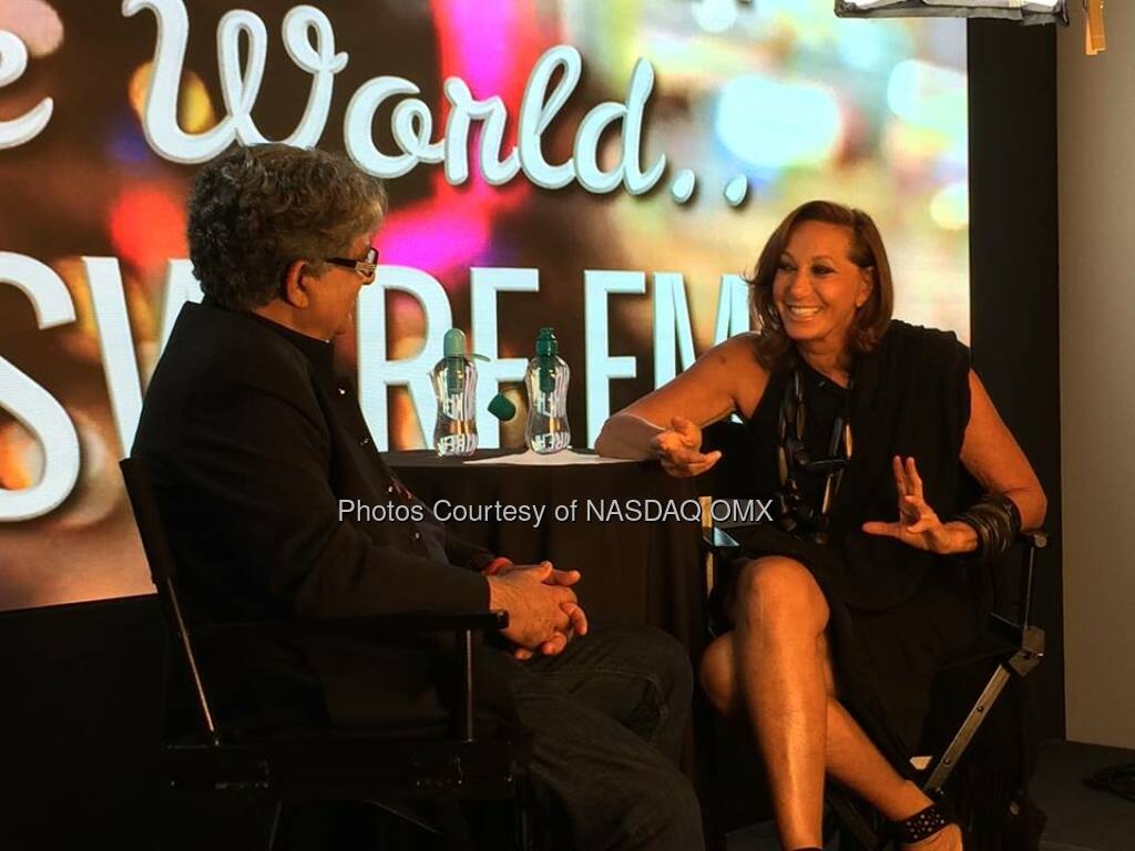 Donna Karan at her interview for One World with DeepakChopra Source: http://facebook.com/NASDAQ (28.05.2014)