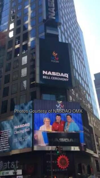 Nasdaq: After the closing bell the Special Olympics takes over Times Square NYC dreamBIG  Source: http://facebook.com/NASDAQ (31.05.2014)