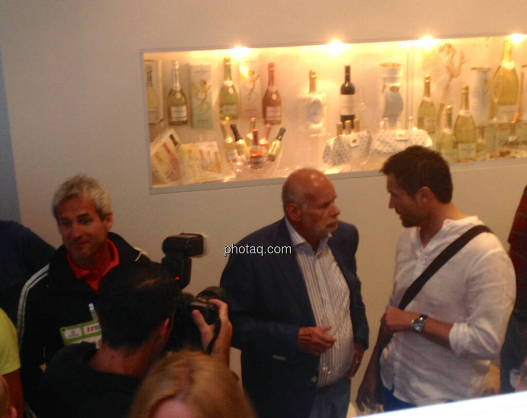Michael Konsel, Manfred Ainedter, Armin Assinger, © Handypics für einen christian-drastil.com/blog (03.06.2014)