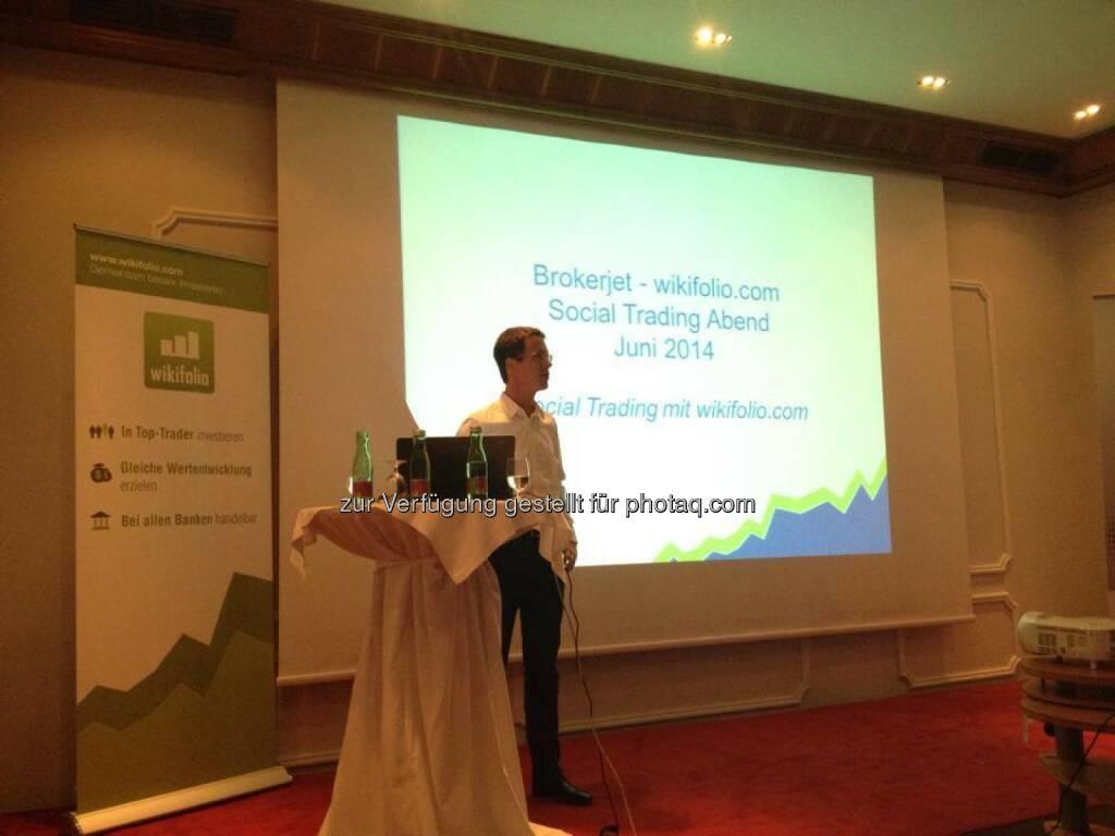 Christian Scheid bei einer brokerjet/wikifolio-Veranstaltung in Graz (04.06.2014)