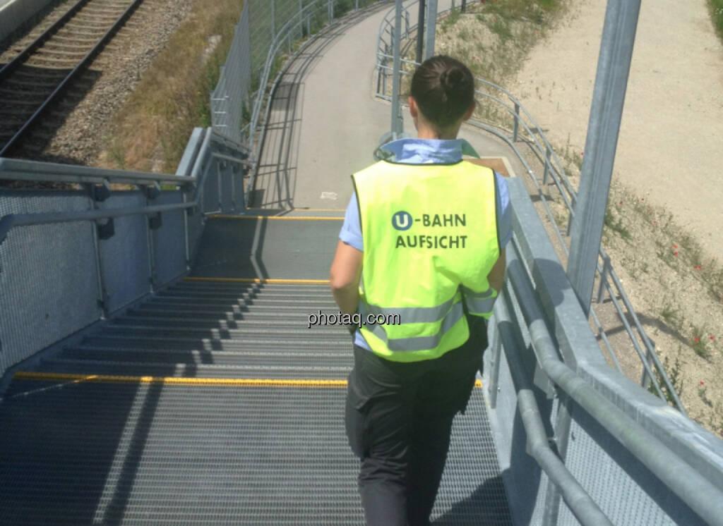 U Bahn Aufsicht , Treppe , Stiege (05.06.2014)