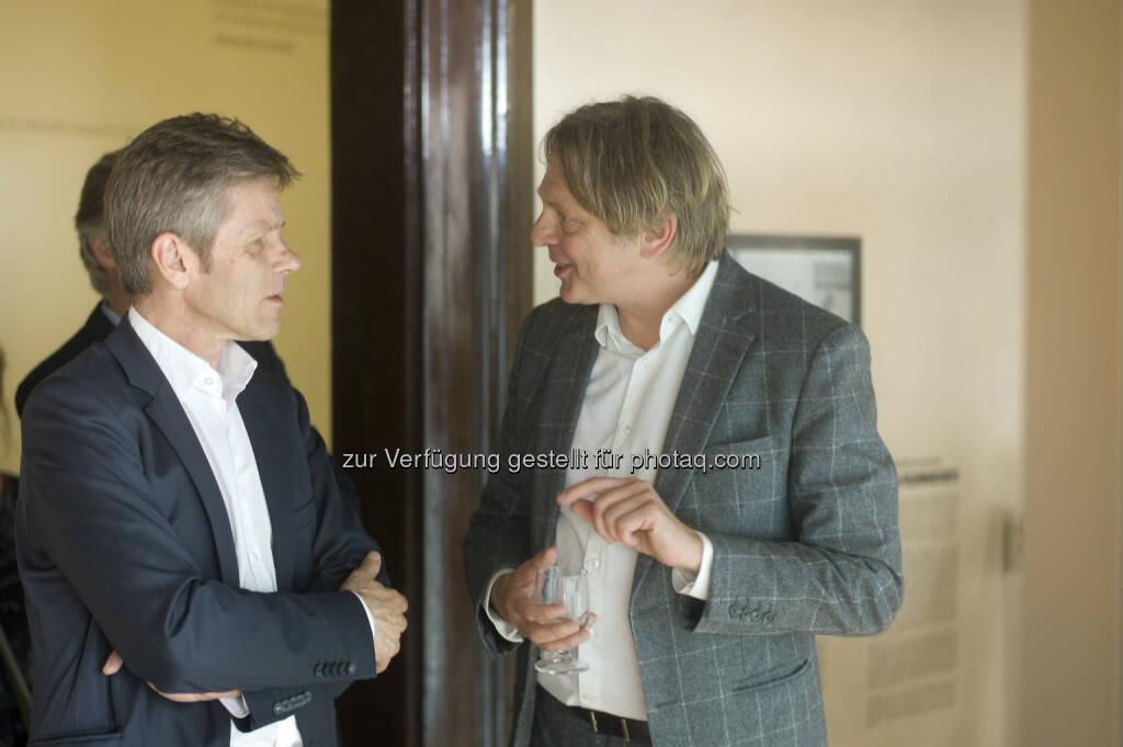 Kulturminister Josef Ostermayer besucht Architekten Johannes Baar-Baarenfels auf der Biennale in Venedig. (C): Baar-Baarenfels Architekten/Oskar Schmidt   (06.06.2014)