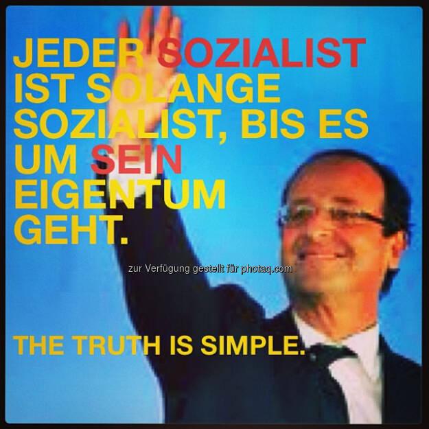 Dieter Zakel über The SImple Truth am Beispiel Francois Hollandes, © beigestellt (30.12.2012)