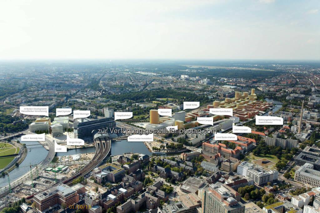 Nach nur einem halben Jahr Bauzeit konnte CA Immo heute bereits das Richtfest für das Bürogebäude Monnet 4 in der Berliner Europacity feiern. Die Fertigstellung des Gebäudes ist für Sommer 2015 vorgesehen. (18.06.2014)