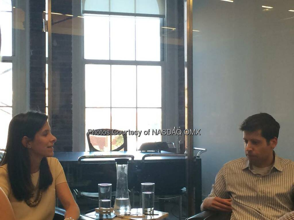 Cool event by TheInformation, founder @JessicaLessin interviews @Ycombinator's President Sam Altman @sama #startup  Source: http://facebook.com/NASDAQ (20.06.2014)