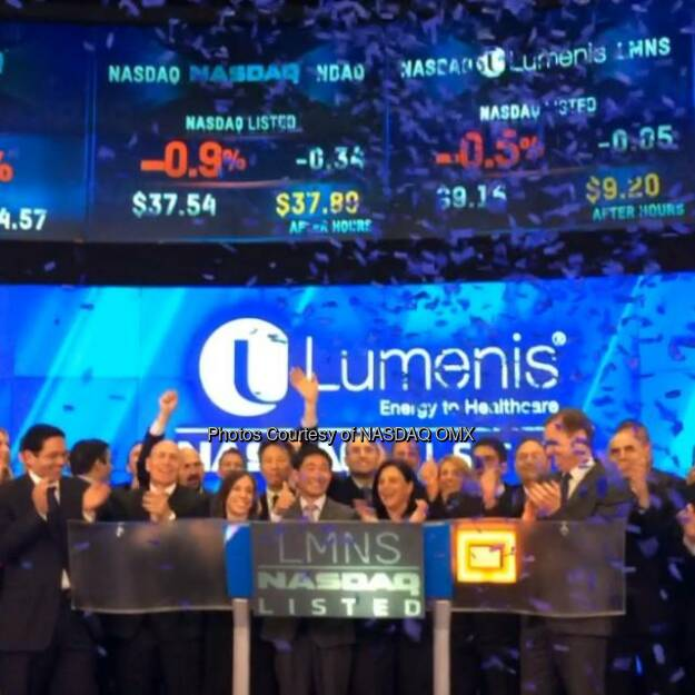 Watch Lumenis ring the Nasdaq Closing Bell! @LumenisInc $LMNS  Source: http://facebook.com/NASDAQ (20.06.2014)