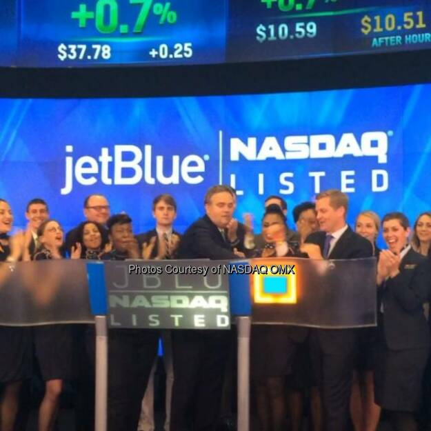 Watch JetBlue Airways ring the Nasdaq Closing Bell  http://facebook.com/NASDAQ (21.06.2014)