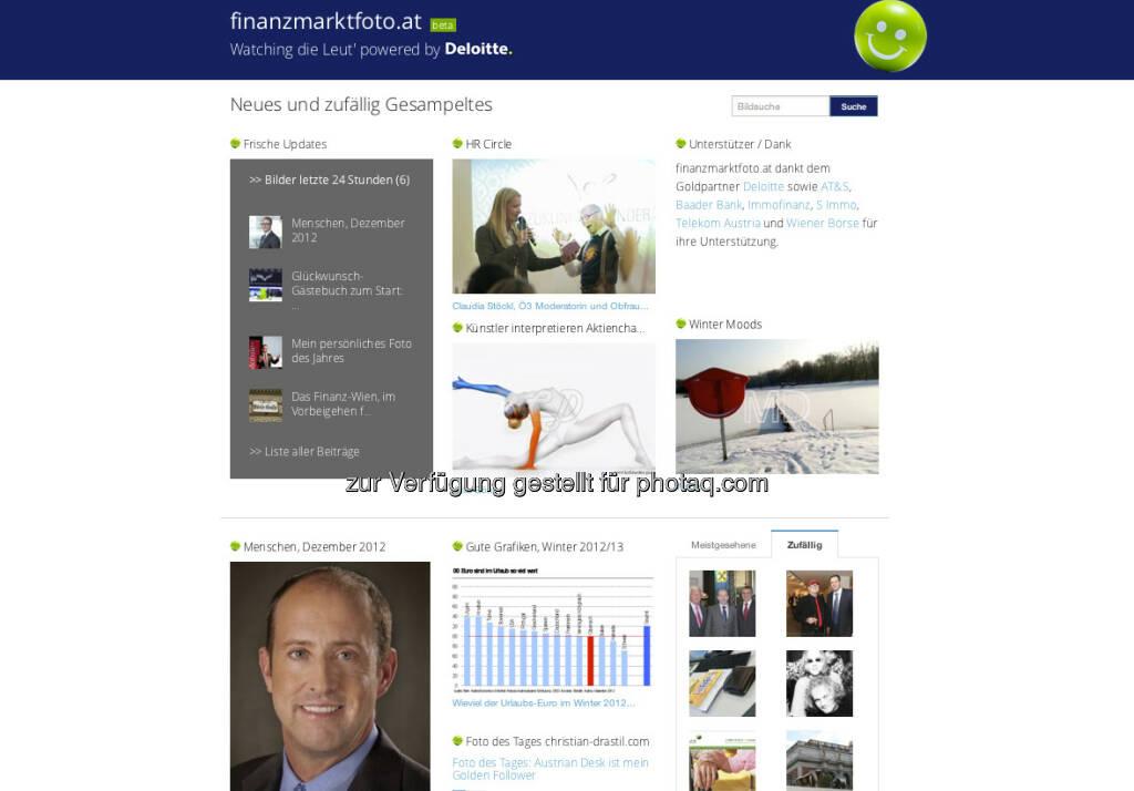http://www.finanzmarktfoto.at: Start am 1. Jänner natürlich mit der eigenen Plattform - Fotos, Grafiken, u.v.m. (02.01.2013)