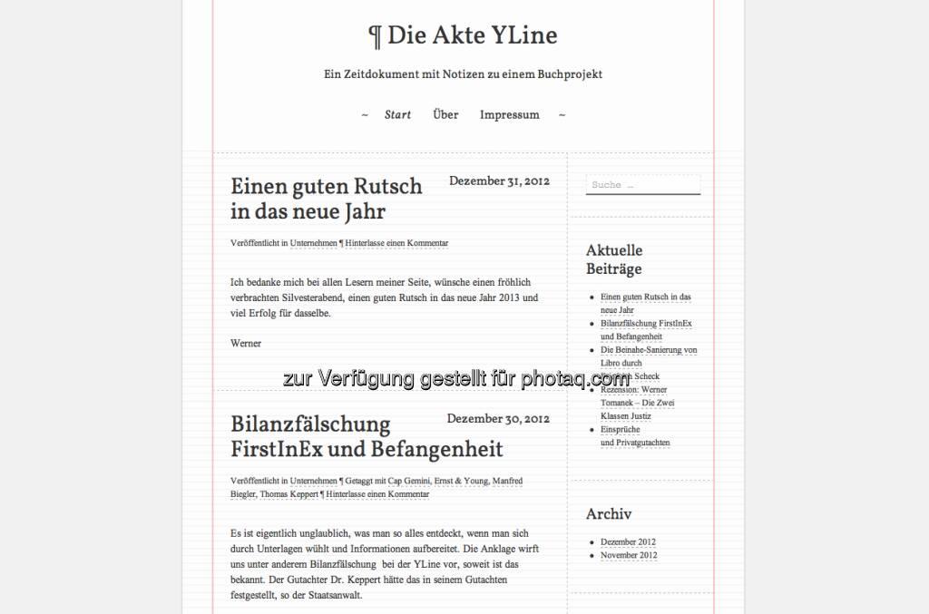 http://www.ylinestory.com - der vielbeachtete Blog von YLine-Gründer Werner Böhm (02.01.2013)