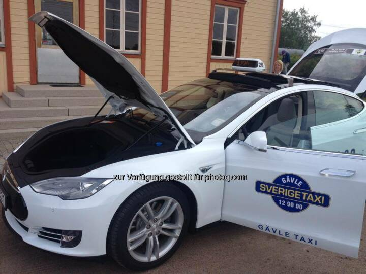 Tesla: Need a lift? We recently opened our store in Stockholm, and now Sweden has its first Tesla taxi.  Source: http://facebook.com/teslamotors