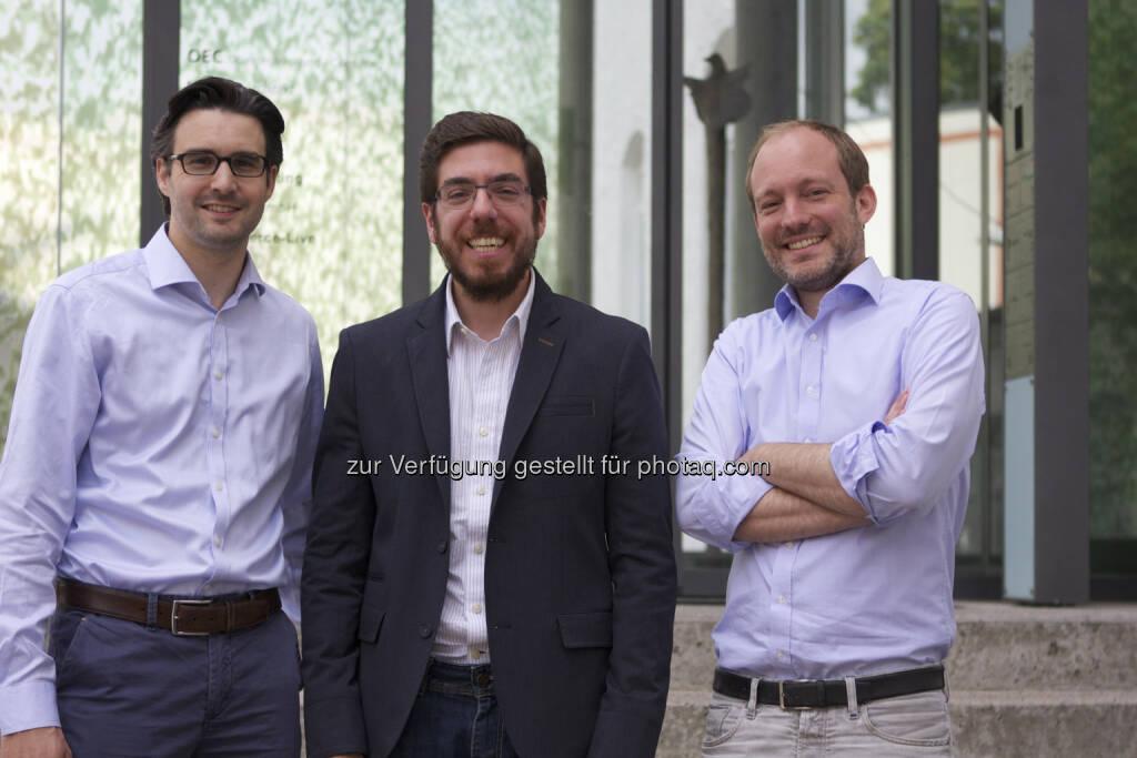 Oliver Vins, Yassin Hankir und Thomas Bloch bringen mit dem FinTech-Startup vaamo (www.vaamo.de) die einfache Geldanlage für jedermann (c) vaamo (24.06.2014)