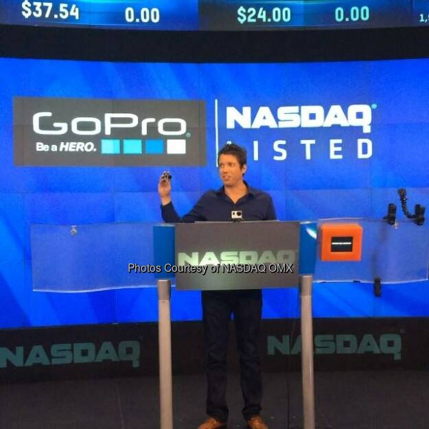 GreatAdvice from Nick Woodman, CEO of GoPro  #GoPro  Source: http://facebook.com/NASDAQ (27.06.2014)