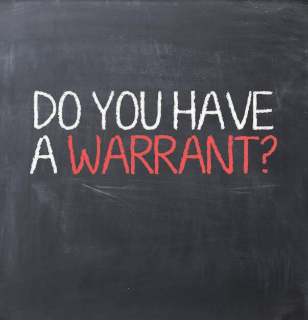 Opti Optionsschein Warrant http://www.shutterstock.com/de/pic-180873869/stock-photo-warrant-authorization.html  (Bild: shutterstock.com) (30.06.2014)
