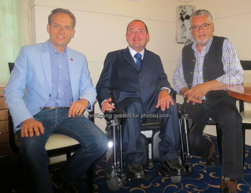 vorwärts Tirol: Erste Studienergebnisse zum Direktzug sind auf Schiene -  LA Sven Knoll aus Südtirol, Reinhard Rodlauer - Rodlauer Consulting, LA Josef Schett - vorwärts Tirol (30.06.2014)