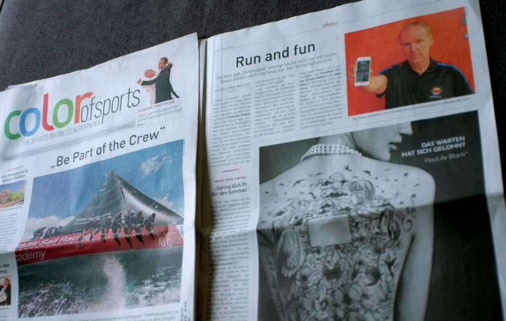 Run and fun - Artikel über Runplugged im neuen color of sports Magazin (01.07.2014)