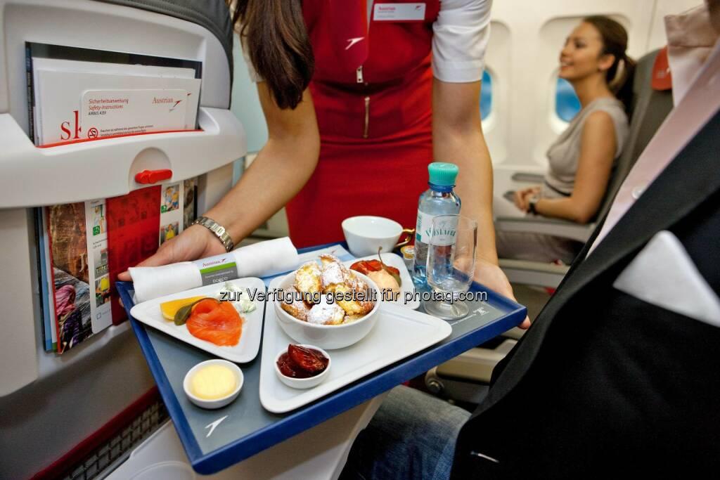 """Austrian Airlines erweitert ihr """"Smart Upgrade"""" Angebot. Ab sofort haben Passagiere die Möglichkeit, auch auf allen Europa Linienflügen einen Platz in der Austrian Business Class zu ersteigern. , © Aussendung (01.07.2014)"""