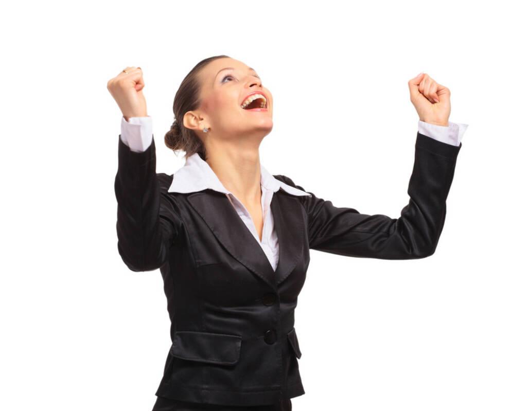yes, Freude, Erfolg, Deal closed, gewonnen http://www.shutterstock.com/de/pic-69779962/stock-photo-happy-business-woman.html , © (www.shutterstock.com) (01.07.2014)