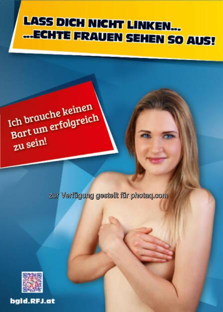 RFJ.at lässt sich nicht linken und zeigt echte Frauen, die keinen Bart haben (02.07.2014)