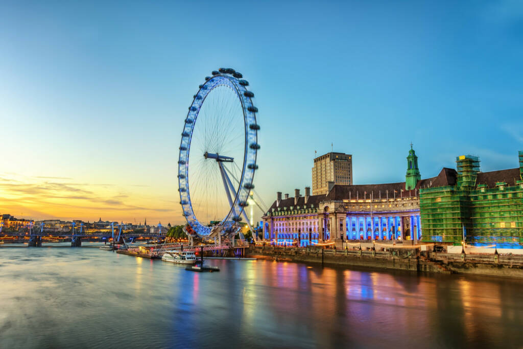London Eye, http://www.shutterstock.com/de/pic-155068436/stock-photo-the-london-eye-on-the-south-bank-of-the-river-thames-at-night-in-london-england.html , © shutterstock.com (02.07.2014)