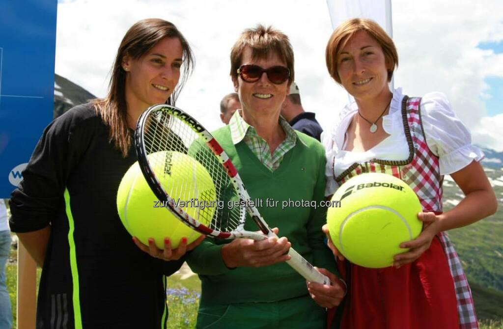 Tennis: Flavia Pennetta, Annemarie Moser-Pröll, Yvonne Meusburger (06.07.2014)
