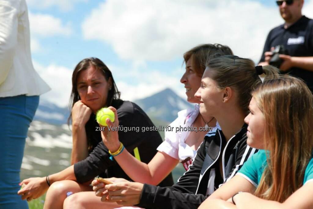 Tennis, Ball: Flavia Pannetta, Yvonne Meusburger, Lisa-Maria Moser, Yvonne Neuwirth (06.07.2014)