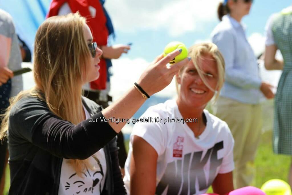 Tennis, Ball - Elina Svitolina, Sandra Klemenschits (06.07.2014)