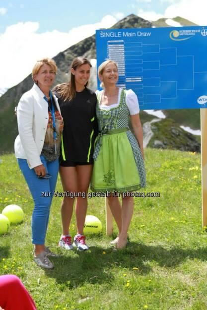 Auslosung, Raster: Judith Wiesner-Floimair, Flavia Pennetta, Sandra Reichel (06.07.2014)