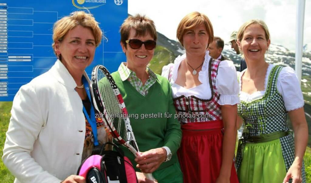 Judith Wiesner-Floimair, Annemarie Moser-Pröll, Yvonne Meusburger Flavia Pennetta, Sandra Reichel (06.07.2014)