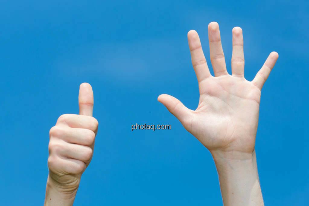 Hände, 6, sechs, © photaq/Martina Draper (08.07.2014)