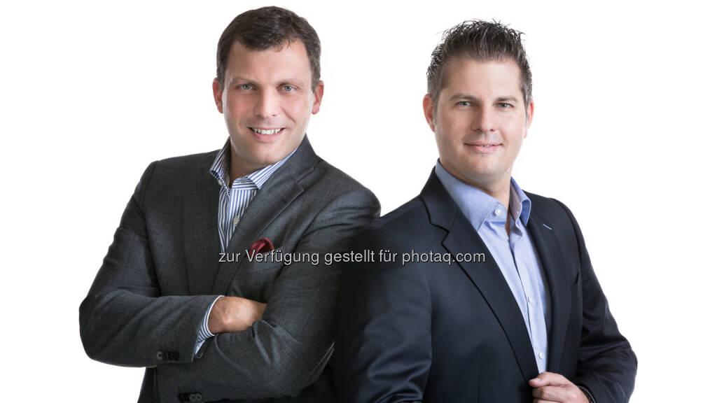 Die Hälfte aller ÖsterreicherInnen nutzen das Smartphone parallel zu TV und anderen Medien: Harald Winkelhofer und Andreas Martin, Präsidenten der Mobile Marketing Association Austria, © Aussender (09.07.2014)