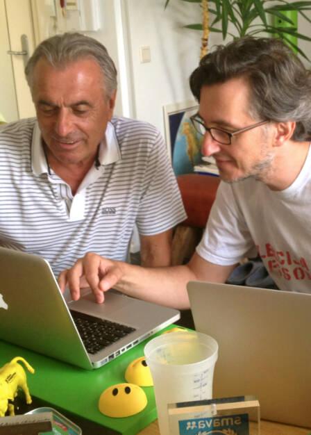 Hans Huber und Josef Chladek bei Christian Drastil Communications. Da gehts auch ein wenig um Runplugged ... (09.07.2014)
