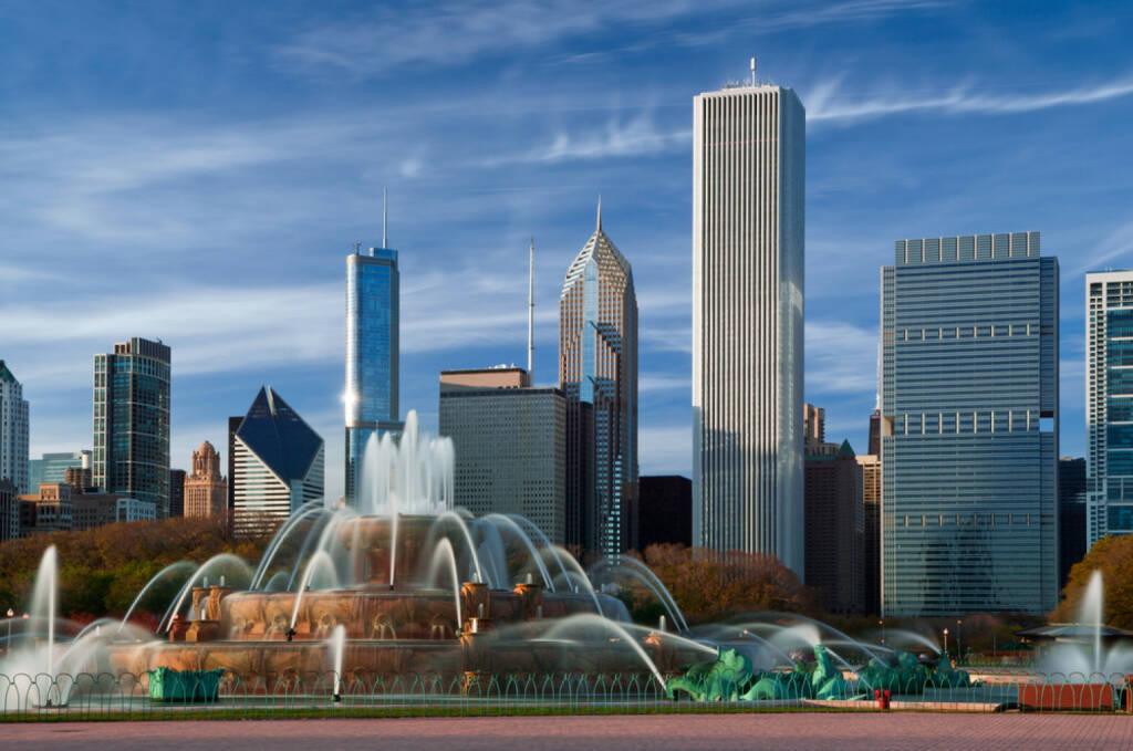 Chicago, Illinois, Buckingham Fountain, Al Bundy, USA, http://www.shutterstock.com/de/pic-79603012/stock-photo-buckingham-fountain-in-grant-park-chicago-usa.html , © (www.shutterstock.com) (10.07.2014)