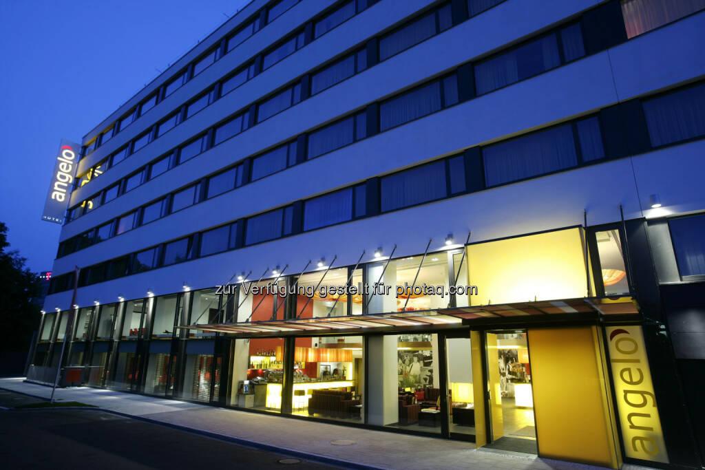 Warimpex verkauft Anteil am angelo Hotel München sowie benachbartes Bauland - hier im Bild: Angelo München Exterior (c) Warimpex (10.01.2013)