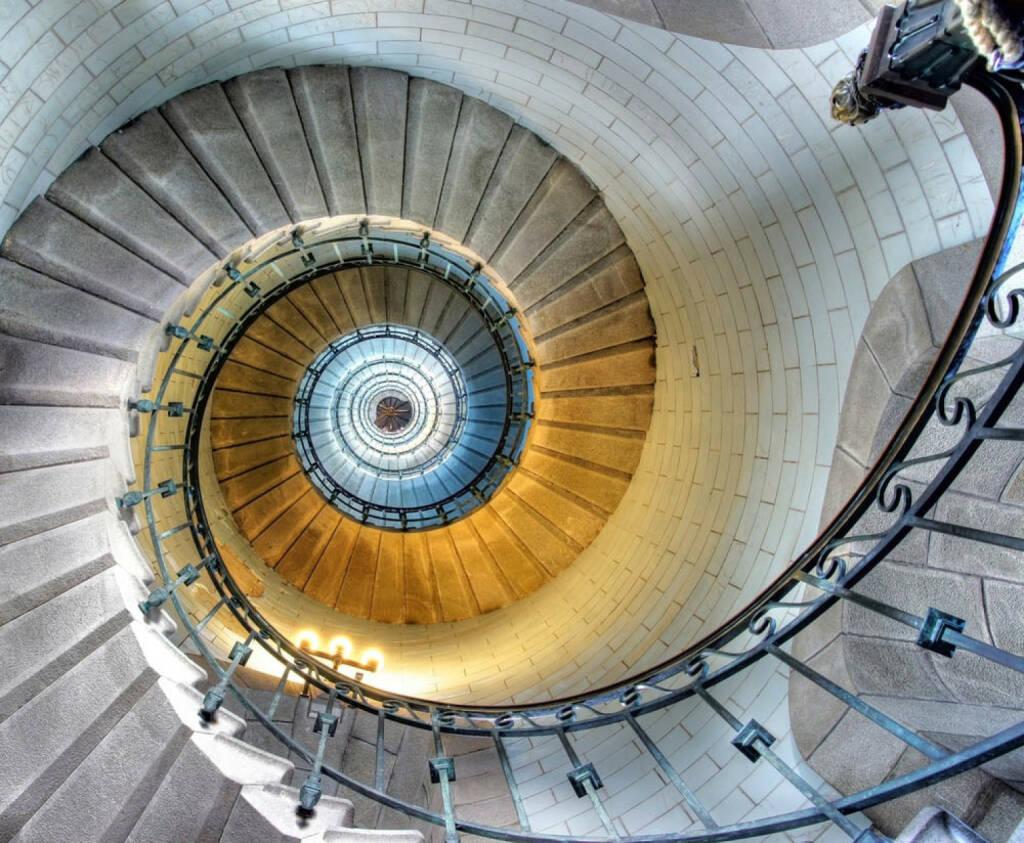 Spirale, aufwärts, abwärts, drehen, http://www.shutterstock.com/de/pic-94263022/stock-photo-upside-view-of-a-spiral-staircase.html (Bild: shutterstock.com) (11.07.2014)